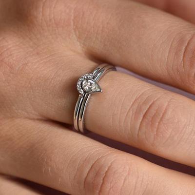 Zásnubný diamantový set prsteňov zo zlata Paiha Zásnubné sety 68e5ce4efc2